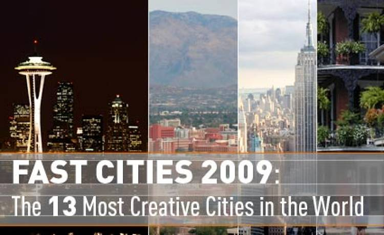 <p><script type=&quot;text/javascript&quot;> digg_url = 'http://www.fastcompany.com/multimedia/slideshows/content/fast-cities-2009.html'; digg_skin = 'compact'; </script> <script src=&quot;http://digg.com/tools/diggthis.js&quot; type=&quot;text/javascript&quot;></script> Seattle, <em>Fast Company</em>'s City of the Year, boasts the ingredients that we believe will bring our communities--and country--back to prosperity: smarts, foresight, social consciousness, creative ferment. This year, singular bright ideas have earned 12 other cities places on our honor roll. Their exemplary initiatives are improving neighborhoods, transforming lives, and helping build better, faster cities for the future. </p>