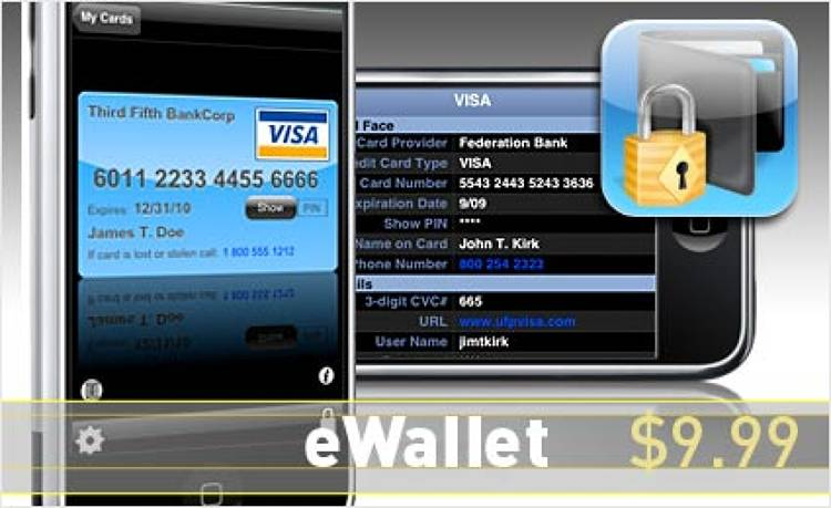 <p> Store your bank and credit-card info without fear of losing your phone, thanks to 256-bit encryption. <br /> Also available on BlackBerry.  </p> <p> <a href=&quot;http://phobos.apple.com/WebObjects/MZStore.woa/wa/viewSoftware?mt=8&amp;id=284721352&quot; target=&quot;_new&quot;><strong>Learn more about this app</strong></a> </p>