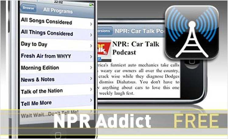 <p> This unofficial app lets you skip piecemeal podcasts and stream local NPR stations.  </p> <p> <a href=&quot;http://itunes.apple.com/WebObjects/MZStore.woa/wa/viewSoftware?id=299943618&amp;mt=8&quot; target=&quot;_new&quot;><strong>Learn more about this app</strong></a> </p>