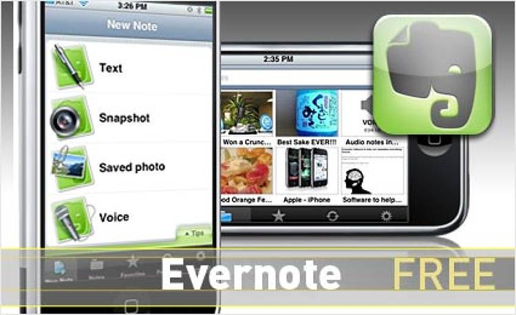 <p> Store ideas--text, geo-tagged photos, or voice memos--as they happen and easily search them later with cloud-based syncing.  </p> <p> <a href=&quot;http://www.evernote.com/about/download/iphone/&quot; target=&quot;_new&quot;><strong>Learn more about this app</strong></a> </p>