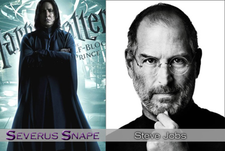 <p>Throughout the Harry Potter series, Snape is a dark and secretive figure. Dumbledore trusts him, but Harry is ever suspicious. <strong><a href=&quot;http://www.fastcompany.com/magazine/119/the-tao-of-steve.html&quot;>Steve Jobs</a></strong>, anyone? People love the tech legend, but his secretive nature (whether dodging questions of his health or future Apple gadgets) wrinkles noses. Likewise, Jobs is known to hold a grudge--Apple's threatened lawsuit against Palm sure feels like payback for Palm CEO Jon Rubenstein's defection. One more thing: Both Snape and Jobs favor black turtlenecks. </p>