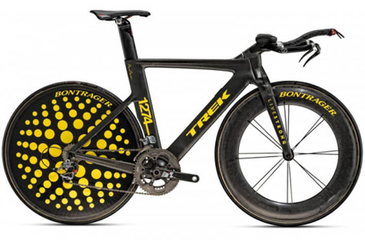 <p>After three years of retirement from the Tour de France, Armstrong made his return in style by riding a Trek TTX, specially designed by artist Marc Newson to raise awareness for Armstrong's anti-cancer art show, <a href=&quot;http://www.trekbikes.com/us/en/stages/&quot; target=&quot;_new&quot;>STAGES</a> now showing in Paris. <br /> Photo: <a href=&quot;http://www.trekbikes.com&quot; target=&quot;_new&quot;>Trek Bikes</a> </p>