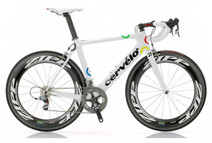 <p>Throughout the race, this aerodynamic Cervelo S3 aided Hushovd's speed and precision, which is the exact model that may be bought in shops. However, he and his teammates enjoyed the lighter Cervelo P4 during the time-trials, which according to Cervelo is the fastest TT bike ever tested. <br /> <em> [via <a href=&quot;http://www.cervelo.com&quot; target=&quot;_new&quot;>Cervelo</a> and <a href=&quot;http://www.competitivecyclist.com/road-bikes/frame/2009-Cerv%C3%A9lo-p4-5424.html&quot; target=&quot;_new&quot;>Competitive Cyclist</a>]</em>  </p>