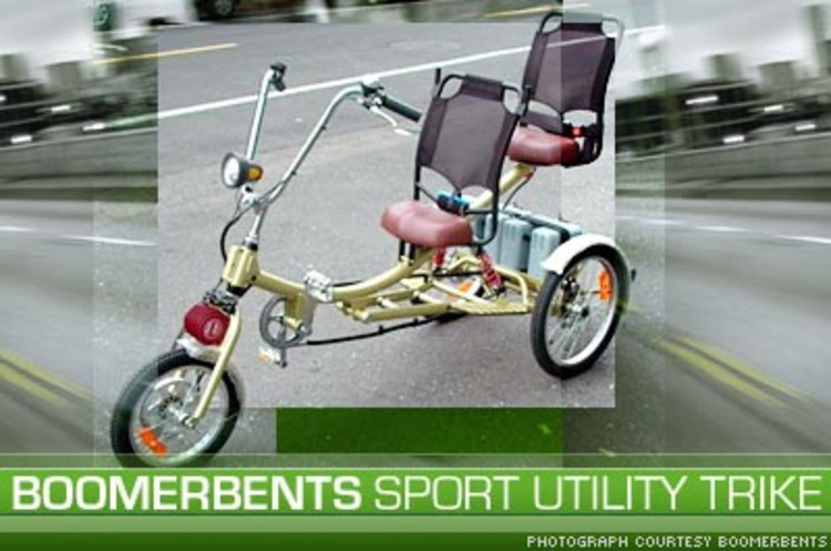 <p>A <a href=&quot;http://www.boomerbents.com/&quot;>Boomerbents Sport Utility Trike</a> runs on sealed lead acid batteries for up to 20 miles on a full charge. With a top speed of 12 miles per hour -- 15 with pedal assist -- this vehicle could serve as your second car for running errands.</p>