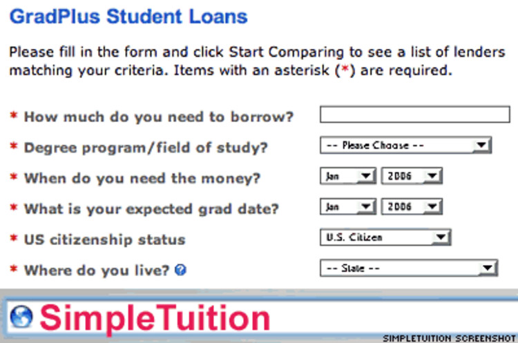 <p><strong>What it does:</strong> Helps students compare loans and make education financing decisions.</p><p><strong>What's cool:</strong> SimpleTuition offers services to financial aid professionals as well.  Its pages and tools can be customized for a specific university.</p><p><strong>Check it out:</strong> <a href=&quot;http://www.simpletuition.com/&quot; target=&quot;_new&quot;>www.simpletuition.com</a></p>