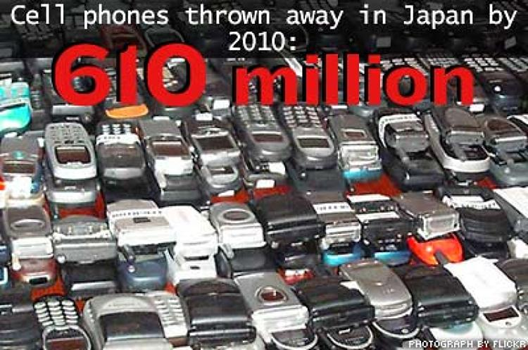<p>As the leading nation in mobile phone usage, Japan also has the highest number of mobile phones that are discarded when they become obsolete each year. Mobile phones, PDAs and digital cameras all contain amounts of lead, beryllium, arsenic, mercury, antimony and cadmium.</p>