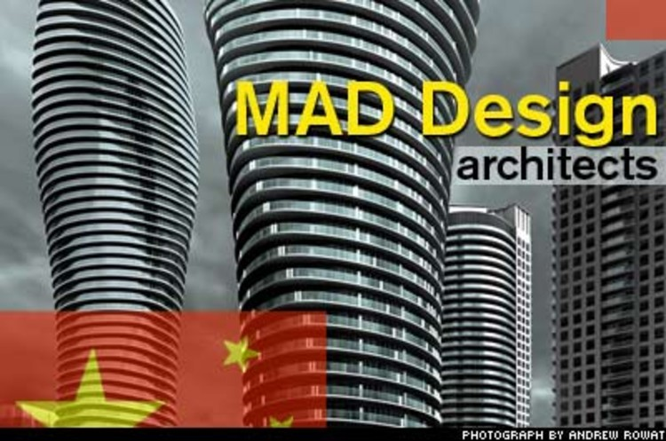 <p>Ma Yansong and Qun Dang are two of the three partners of MAD Design, an architectural firm that beat out the international competition to design a condo high-rise outside Toronto. MAD's 56-story Absolute Tower spirals and undulates like a giant ergonomic barbell.</p>