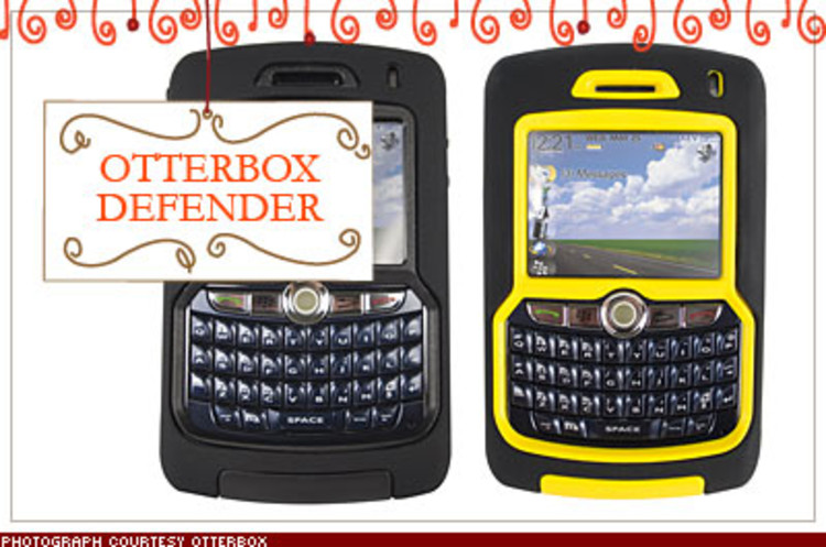 <p>Send emails in the rain, text messages from the ski slopes. The OtterBox (shown for the BlackBerry 8800 but also available for iPhones) makes your smartphone almost fully impervious to the elements, without sacrificing functionality. $50; <a href=&quot;http://www.otterbox.com&quot; target=&quot;_blank&quot;>otterbox.com</a></p>