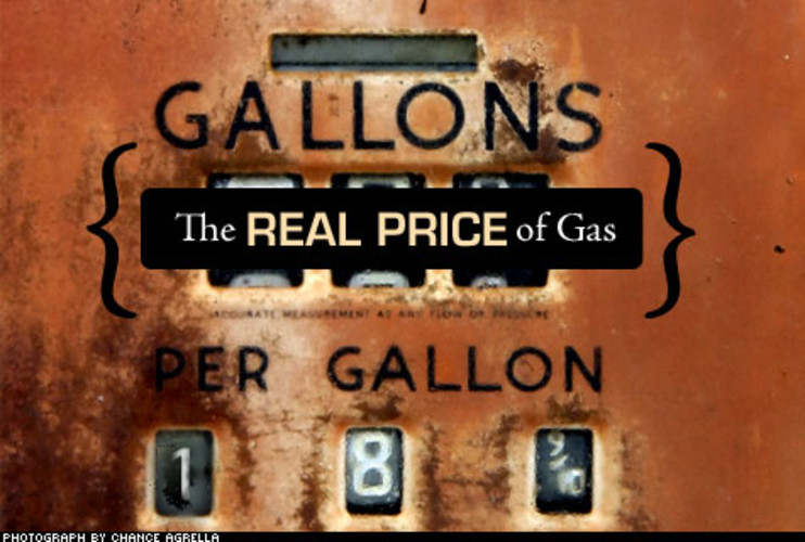<p>In 1908, a gallon of gas cost around 18 cents. Adjusted for inflation, that's about $3.90.</p>
