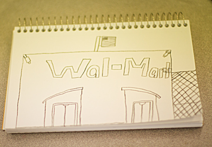 An Emerson Elementary fourtth grader created a design for a new Walmart, which was destroyed.