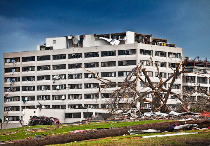 St. John's Hospital after the tornado hit.