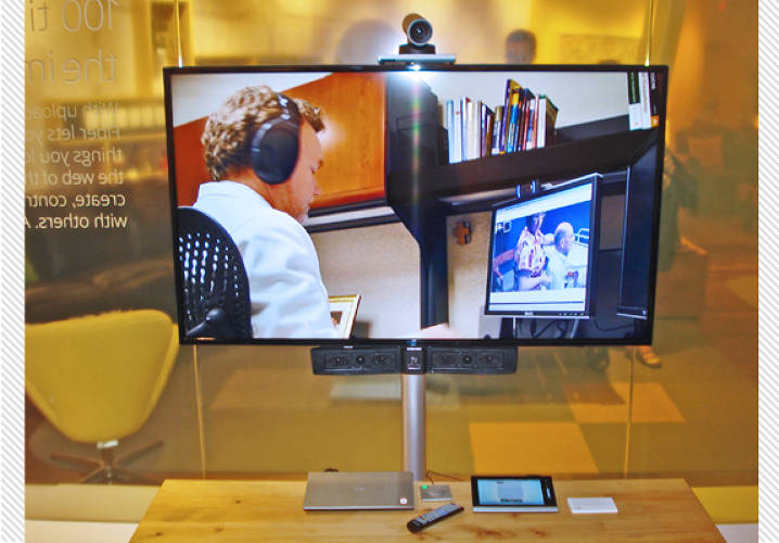 One business application could be telepresence meetings using Cisco's camera, codec, mic, and control system.