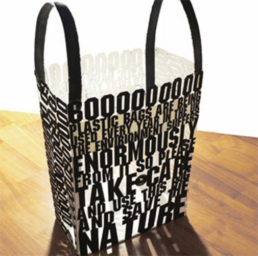 A bag with a statement, designed by Thorbjorn Ankerstjerne while he was a student.