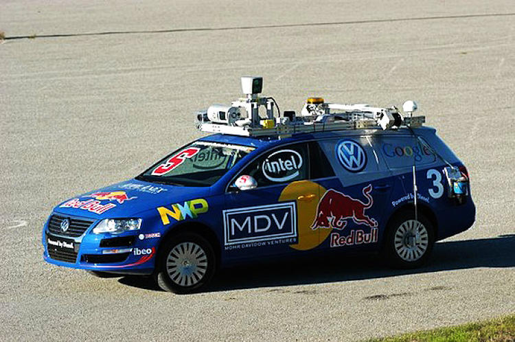 The <a href=&quot;http://www.fastcompany.com/1644277/stanfords-autonomous-car-learns-to-slide-park&quot;>Junior autonomous car</a>, a collaboration between Volkswagen and Stanford researchers, was a competitor in the DARPA Urban Challenge. Since then, two more iterations of Junior have been built.  The latest, Junior 3, can cruise down a driveway and back into a tight parking space.