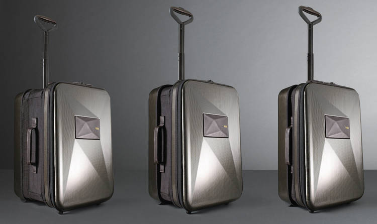 <p>This expandable suitcase is the first of its kind to not require a zipper mechanism.</p>