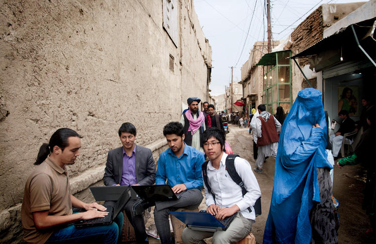 <p>Impossibly optimistic and totally obsessed, <a href=&quot;http://www.fastcompany.com/3001733/heart-afghanistan-entrepreneurs-innovate-peace&quot; target=&quot;_self&quot;>Afghanistan's aspiring tech moguls</a> believe that computing will not only help make them money but also secure peace in their land.</p>  <p>The small circle of tech entrepreneurs coding for change in Kabul includes, from left, Ahmad Reza Zahedi, Abdulghani Vahidi, Mahdi Rezaei, and Yousef Ebrahimi.</p>