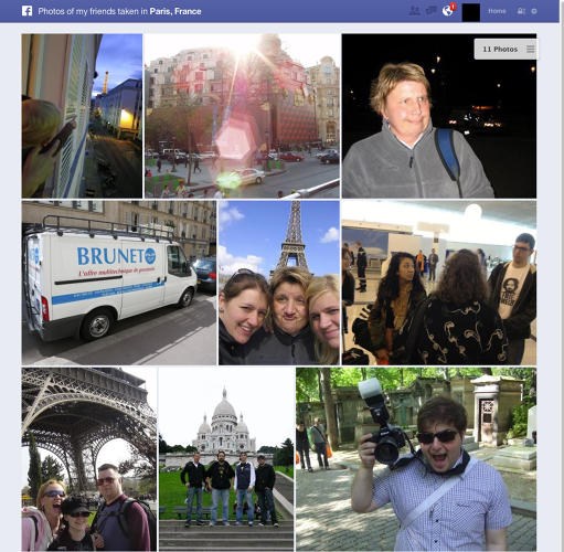 "<p>Example Search: ""Photos of friends in Paris""</p>  <p>Who Else Is Doing This With Facebook's Data: <a href=&quot;http://www.pixable.com/&quot; target=&quot;_blank&quot;>Pixable</a></p>"