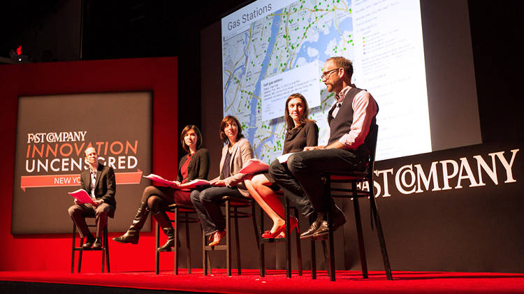 <p><em>Fast Company</em> senior writer Chuck Salter hosted a live theater experiment, telling the story of how New York City innovated during Hurricane Sandy. Panelist-players included Rachel Haot, Chief Digital Officer, City of New York; Jessica Lawrence, Executive Director, NY Tech Meetup Emily Rahimi, Social and Digital Media Manager, New York City Fire Department; Nigel Snoad, Product Manager, Google Crisis Response. <a href=&quot;https://soundcloud.com/fast-company/fast-company-live-future-of&quot; target=&quot;_blank&quot;>Listen here</a>.</p>
