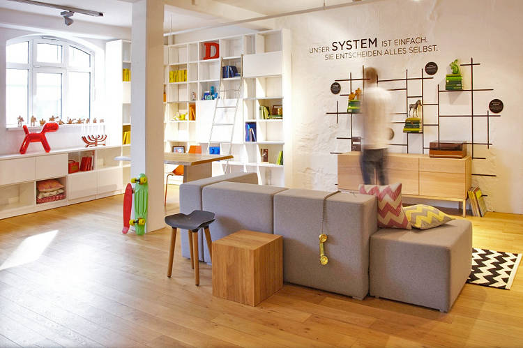 <p>The new Fab showroom in Hamburg, Germany, is a former showroom of German furniture maker Massivkonzept, which the company just acquired.</p>