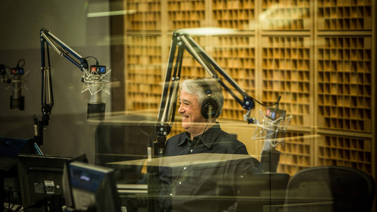 <p>Scott Simon in the first successful live broadcast from the new HQ.</p>