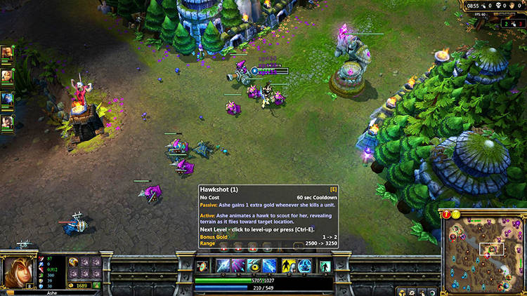 <p>A screenshot showing Live Play of League of Legends.</p>