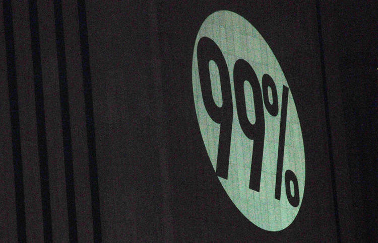 <p>On November 17, 2011, as Occupy Wall Street activists marched across the Brooklyn Bridge after the eviction of Zuccotti Park, messages of support--&quot;99%,&quot; &quot;MIC CHECK,&quot; &quot;WE ARE A CRY FROM THE HEART OF THE WORLD&quot;--beamed onto the Verizon Building in lower Manhattan, projected from a public-housing apartment. The bat signal got a batmobile shortly thereafter: the Illuminator.</p>  <p><a href=&quot;http://www.flickr.com/photos/fleshmanpix/6417014205/in/photolist-aM3SKX-aM48da-aM3Y7M-aM3US8-aM413v-aM3W4R-aM427K-aM3TzD-aM3YSg-aM43kc-aM44y4-aJEX3z/&quot; target=&quot;_blank&quot;>Flickr user Michael Fleshman</a></p>