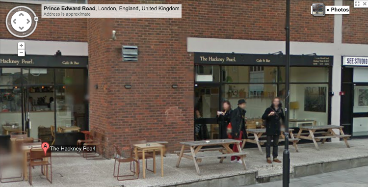 <p>This shot, from a Street View car in Hackney, London...</p>