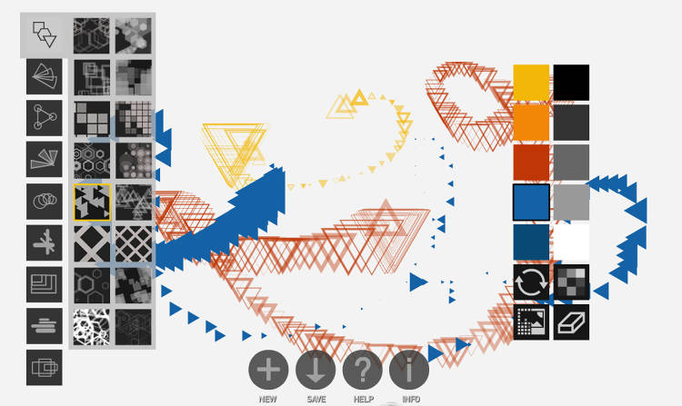 <p>An app called Deco Sketch ($4.99) creates effects with geometric shapes.</p>