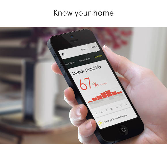 <p>Canary can alert you to things like as a sudden change in temperature that could indicate a fire, or a movement while you're on vacation that could signal an intrusion.</p>