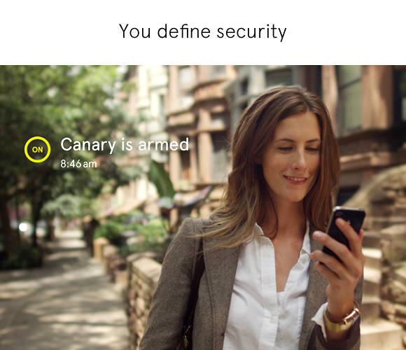 <p>You can set the device to alert you via iPhone or Android when it detects anything out of the ordinary.</p>