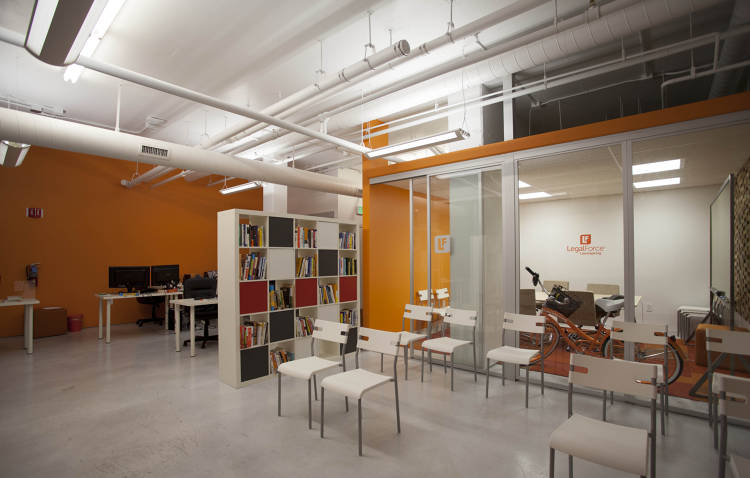 <p>Downstairs, there is office space for LegalForce's lawyers to work. Startups are also welcome to use the space for events.</p>