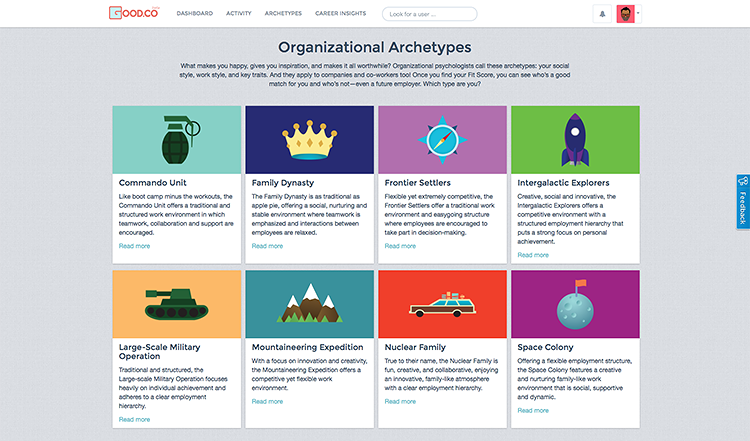 <p>Good.Co's new <a href=&quot;http://www.fastcoexist.com/1682632/how-to-find-out-whether-youre-a-good-cultural-fit-at-any-company#1&quot; target=&quot;_self&quot;>personality assessment tool</a> can check if you are in the right job (and maybe help you find a new one).</p>