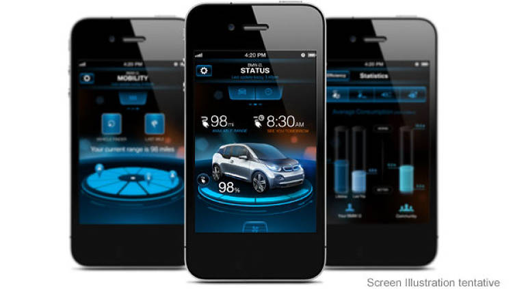 <p>The BMW i Remote App for iOS and Android, sends detailed information about the status of the BMW i3 at any time.</p>