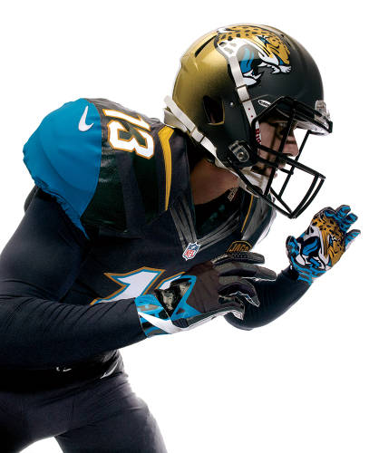 <p>The Jaguars' new Nike-designed uniforms are part of a strategy to jump-start enthusiasm for a struggling franchise.</p>