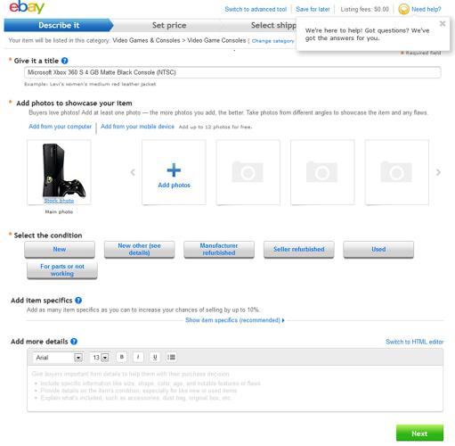 <p>...And of course, eBay's happy when logging electronics leads to a new transactions.</p>