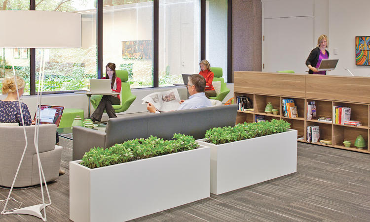 "<p>Some workers choose to retreat from the structure of their day and relocate for a few hours to these comfortable spaces in Steelcase's WorkCafé that create a ""palette of place"" throughout their workday.</p>"