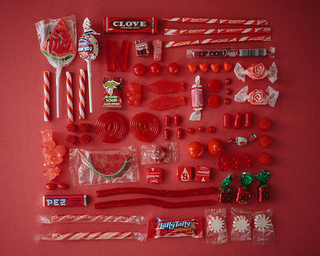 <p>Candy wouldn't be half as interesting if it didn't come in the bright, artificial, Pantone-like color.</p>