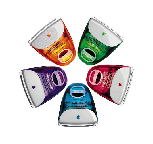 <p>The computer credited with Apple's turnaround, the iMac G3 had colorful plastic panels and was the first product released to market under a newly returned Steve Jobs.</p>