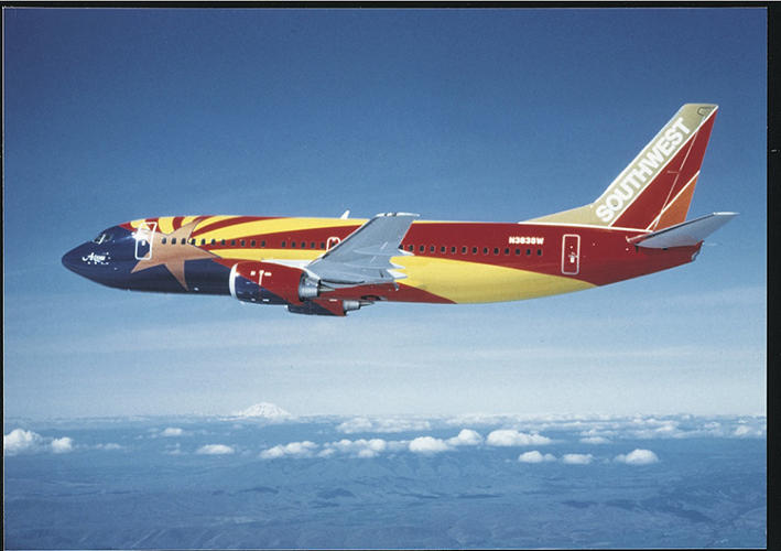 <p>The plane-as-canvas: one of Southwest Airlines's &quot;State Flag&quot; fleet.</p>