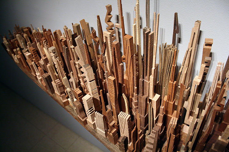 <p>Only once has McNabb attempted to carve a real city, New York. The sculpture was done <a href=&quot;http://festival.newyorker.com/&quot; target=&quot;_blank&quot;>at the behest of the <em>New Yorker</em></a>, who commissioned McNabb to create their own version of the iconic Manhattan skyline.</p>