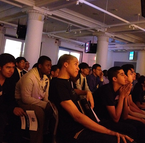 <p>At the second annual NYC Generation Tech demo night, students from underserved NYC high schools wait anxiously to show off mobile apps they'd developed over the last 11 weeks.</p>