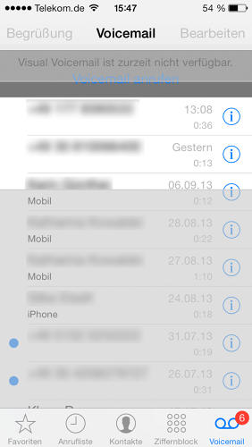 <p>What's with the gray? This user also reported not being able to access contacts from voice mail.</p>