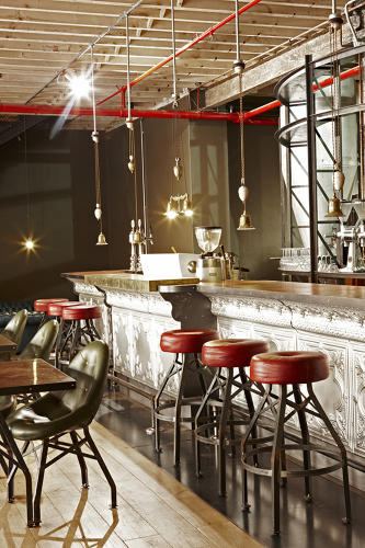 <p>The Truth Coffee flagship in Cape Town plays up &quot;steam&quot; and &quot;punk.&quot;</p>