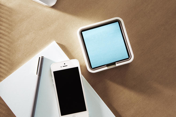 <p>The smaller dispenser is designed to hold a single pack of Post-it Notes.</p>