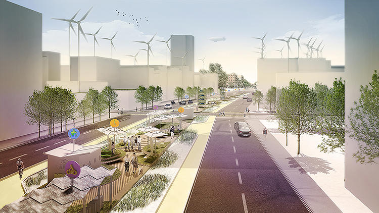 <p>What if some of the more generous central medians throughout New York's street system were turned into green infrastructure?</p>