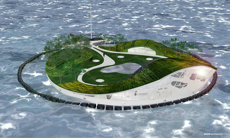 <p>For the past four years, Dutch architect Ramon Knoester and his firm WHIM have been dreaming up ways to turn one of our greatest environmental ills into built utopias on water.</p>