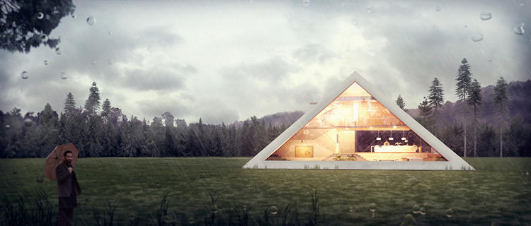 <p>Despite these conventions, Mexican architect Juan Carlos Ramon decided to have a go at designing a Pyramid House.</p>