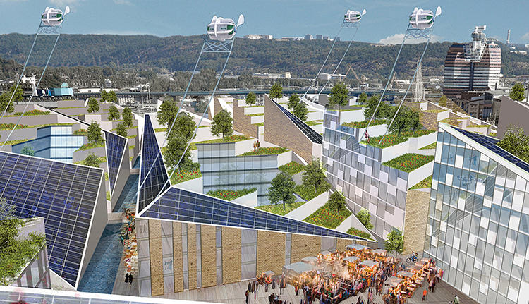 "<p>""It's definitely not science fiction,&quot; Porritt tells Co.Design. ""Everything in this book is either already in existence or in development today, or has been flagged up by a designer as a possibility for the near future."" Here, we see Gothenburg, Sweden, in 2036, the world's first oil-free economy.</p>"