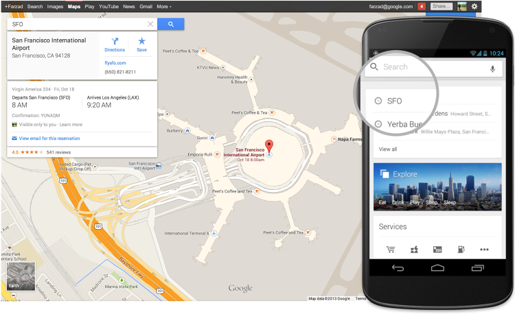 <p>The new update also allows you to find your flight, hotel, and restaurant reservations right within Maps.</p>