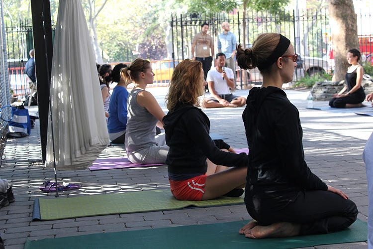<p>Yoga Local NYC curated this Sunday morning outdoor yoga series for the BMW Guggenheim Lab in New York.</p>